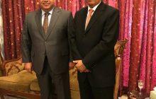 لقاء رئيس اتحاد المقاولين العراقيين الأستاذ علي فاخر السنافي بسعادة السفير الكويتي لدى العراق الأستاذ سالم غصاب