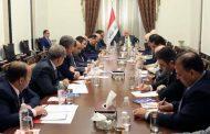 رئيس مجلس الوزراء الدكتور حيدر العبادي يبحث مع اعضاء اتحاد المقاولين العراقيين تذليل العقبات امام عمل المقاولين والقطاع الخاص