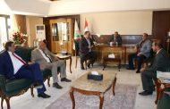 رئيس اتحاد المقاولين العراقيين يستقبل الهيئة الادارية الجديدة لفرع الاتحاد في محافظةالبصرة