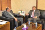 وزير الاشغال العامة و الاسكان الاردني يستقبل رئيس أتحاد المقاولين العراقيين