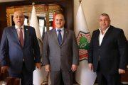 رئيس اتحاد المقاولين العراقيين والعرب يلتقي نقيب المقاولين الأردنيين