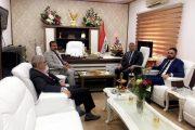 الاستاذ علي #السنافي يزور دائرة مسجل الشركات ويقدم التهنئة لمديرها الجديد الاستاذ مجاهد العيفان ويناقش معه القانون الجديد للشركات