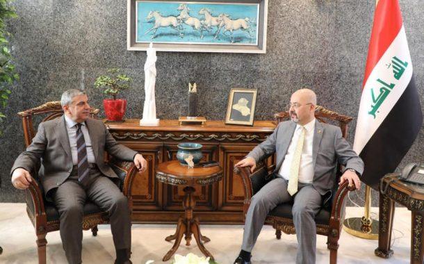 السنافي يلتقي السفير العراقي في الاردن
