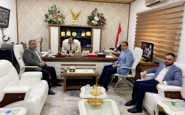 زيارة رئيس اتحاد المقاولين العراقيين والعرب الاستاذ #علي_فاخر_السنافي الى دائرة مسجل الشركات