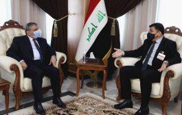 رئيس اتحاد المقاولين يلتقي بوزير الموارد المائية في العراق