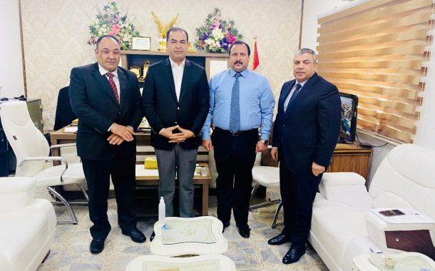 السنافي يلتقي بمدير عام مسجل الشركات في العراق