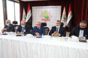رئيس اتحاد المقاولين العراقيين والعرب الاستاذ ( علي فاخر السنافي ) يستقبل بمقر الاتحاد وزير الاشغال العامة والاسكان الاردني ونقيب المقاولين الاردنيين وعدد من اعضاء البرلمان العراقي