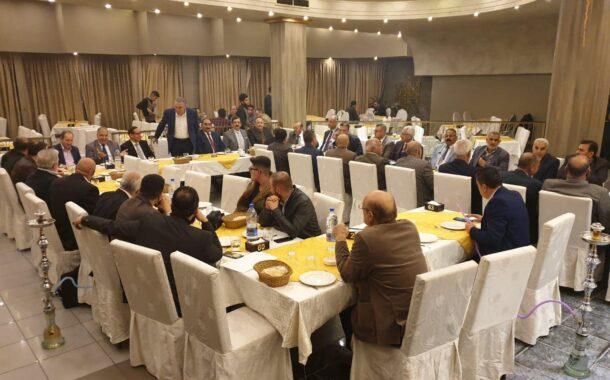 الاستاذ عامر حموي عضو مجلس الشعب السوري ورئيس غرفة تجارة حلب يقيم حفل ترحيب على شرف وفد اتحاد المقاولين العراقيين