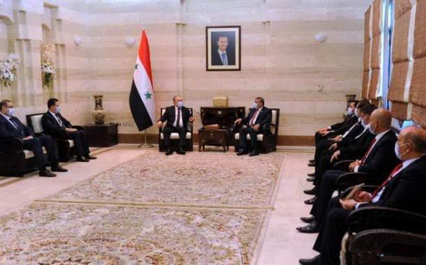 السنافي يلتقي برئيس مجلس الوزراء السوري ويبحث معه اهم ملفات الاعمار