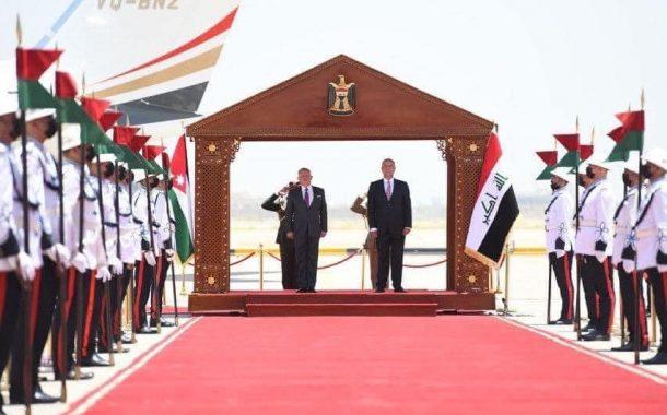 تزينت بغداد الحبيبة اليوم بإستقبال جلالة الملك عبدالله الثاني بن الحسين ملك المملكة الأردنية الهاشمية وسيادة الرئيس المصري عبد الفتاح السيسي